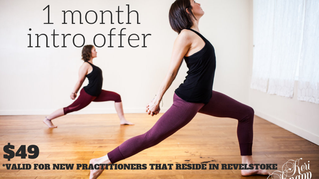 1 month Intro offer at Balu Yoga